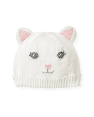 Jet Ivory Kitten Sweater Hat at JanieandJack
