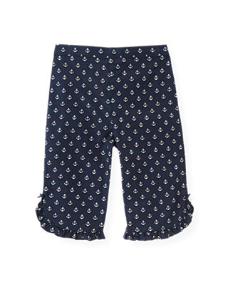 Baby Girl Nautical Navy Anchor Pant at JanieandJack