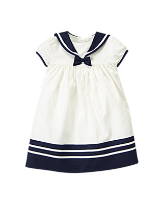 Baby Girl Jet Ivory Sailor Dress at JanieandJack