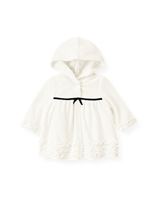Baby Girl Jet Ivory Ruffle Swim Cover-Up at JanieandJack