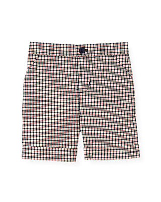 Baby Boy Nautical Navy Plaid Plaid Checked Short at JanieandJack