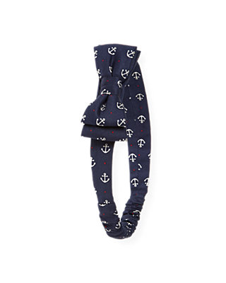 Nautical Navy Anchor Bow Headband at JanieandJack