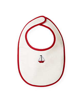 Jet Ivory Sailboat Bib at JanieandJack