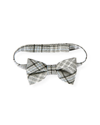 Boys Winter Grey Plaid Plaid Bowtie at JanieandJack