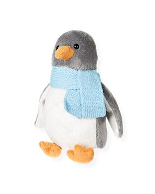 Winter Grey Penguin Plush Toy at JanieandJack