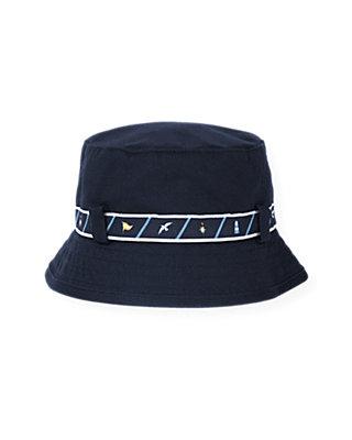 Boys Marine Navy Belted Bucket Hat at JanieandJack