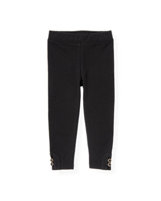 Classic Black Button Ponte Pant at JanieandJack