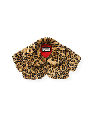 Leopard Leopard Faux Fur Crop Jacket at JanieandJack