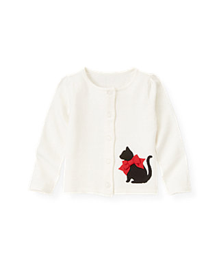 Jet Ivory Kitty Cardigan at JanieandJack