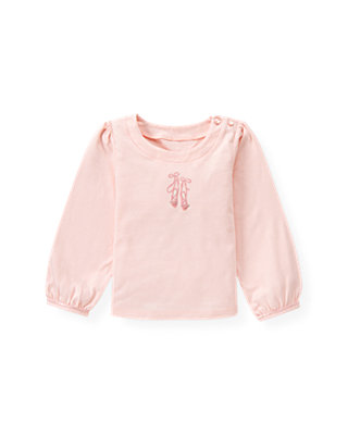 Ballet Pink Ballet Slipper Top at JanieandJack