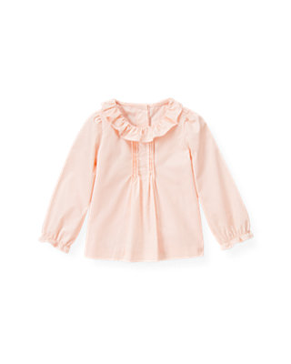 Ballet Pink Ruffle Collar Top at JanieandJack