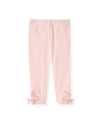 Ballet Pink Satin Ribbon Legging at JanieandJack
