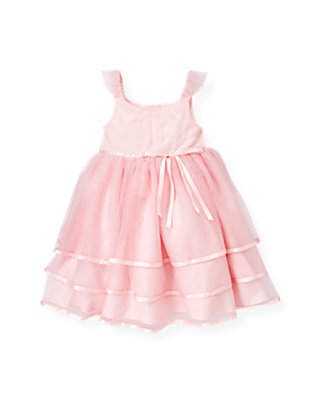 Ballet Pink Satin Ribbon Tutu Dress at JanieandJack