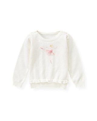 Jet Ivory Ballerina Tulle Sweater at JanieandJack
