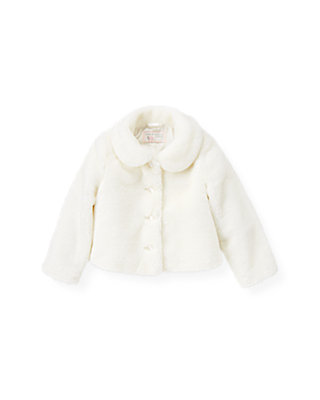 Jet Ivory Faux Fur Jacket at JanieandJack