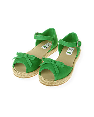 Resort Green Espadrille Sandal at JanieandJack