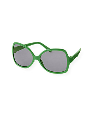 Resort Green Oversized Sunglasses at JanieandJack