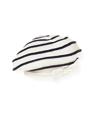 Nautical Stripe Stripe Sweater Beret at JanieandJack
