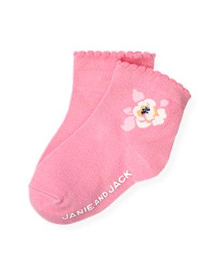 Azalea Pink Azalea Floral Sock at JanieandJack
