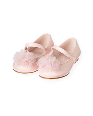 Baby Girl Ballet Pink Tulle Leather Shoe at JanieandJack