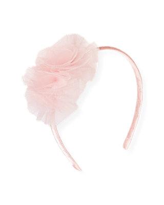 Ballet Pink Tulle Headband at JanieandJack
