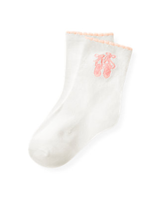 Jet Ivory Ballet Slipper Sock at JanieandJack