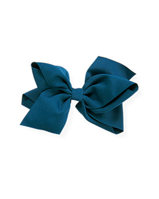 City Blue Bow Barrette at JanieandJack