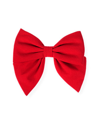 Cinnamon Red Bow Barrette at JanieandJack