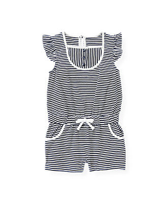 Resort Navy Stripe Stripe Romper at JanieandJack