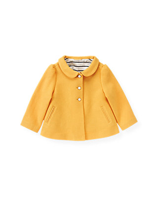 Yellow Twill Swing Coat at JanieandJack