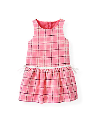 Azalea Pink Plaid Plaid Jumper at JanieandJack