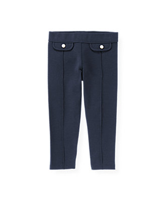 Spring Navy Pocket Ponte Pant at JanieandJack