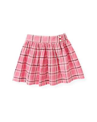 Azalea Pink Plaid Plaid Skirt at JanieandJack