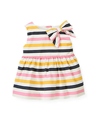 Azalea Pink Stripe Bow Stripe Tank at JanieandJack