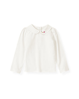 Jet Ivory Kite Collar Top at JanieandJack