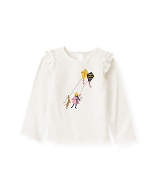 Jet Ivory Girl Kite Top at JanieandJack