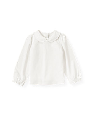 Jet Ivory Peter-Pan Collar Top at JanieandJack