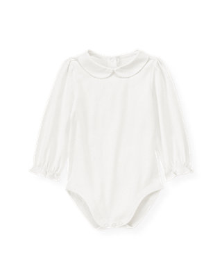 Jet Ivory Peter-Pan Collar Bodysuit at JanieandJack