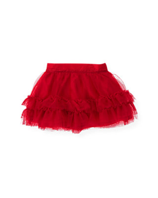 Valentine Red Tulle Skirt at JanieandJack