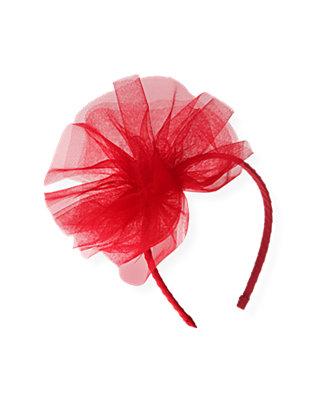 Valentine Red Tulle Pouf Headband at JanieandJack