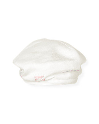 Jet Ivory Satin Ribbon Sweater Beret at JanieandJack