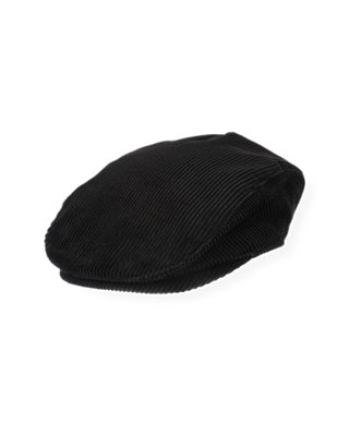 Boys Black Corduroy Cap at JanieandJack