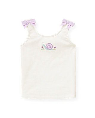 Pure White Snail Tank Top at JanieandJack