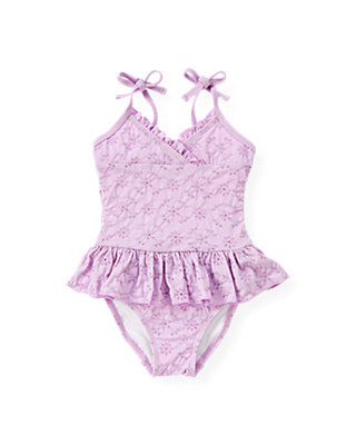 Purple Petunia Eyelet One-Piece Swimsuit at JanieandJack