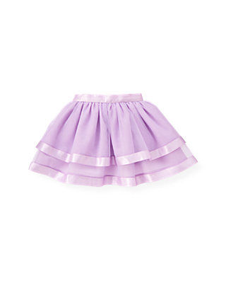 Purple Petunia Satin Ribbon Tulle Skirt at JanieandJack