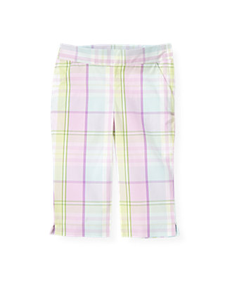 Purple Petunia Plaid Plaid Crop Pant at JanieandJack