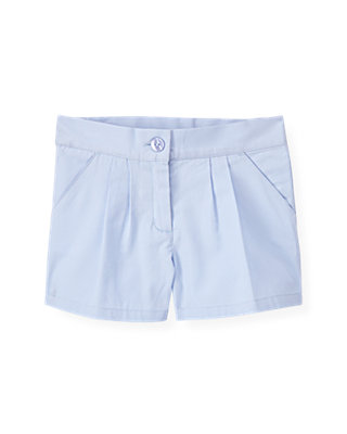 Purple Linen Pleated Short at JanieandJack