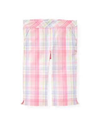 Pale Pink Plaid Plaid Crop Pant at JanieandJack
