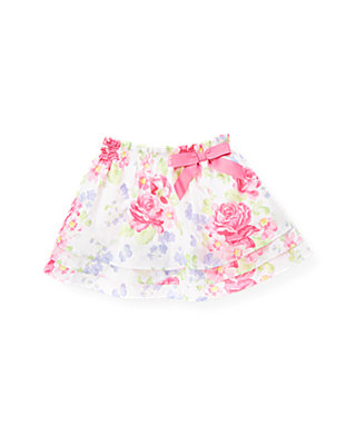 Butterfly Pink Floral Butterfly Floral Skirt at JanieandJack