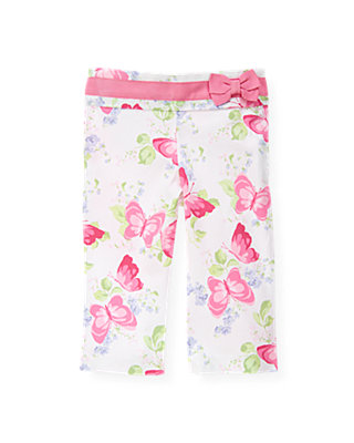 Butterfly Pink Floral Butterfly Floral Crop Pant at JanieandJack